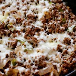 Lean Beef Cheesesteak Skillet