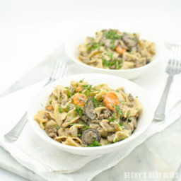 Lean Ground Beef Stroganoff