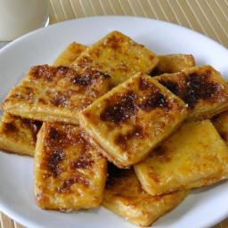 Leche frita light sin azúcar al horno (sin freír)