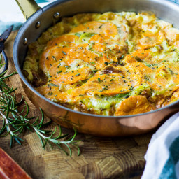 Leek and Sweet Potato Omelette