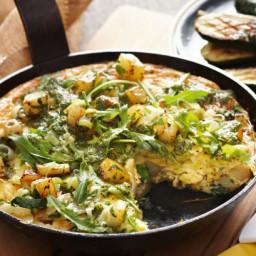 Leek, potato and lemon thyme frittata