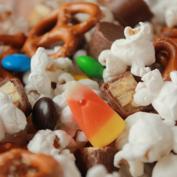Leftover Halloween Candy Snack Mix