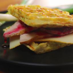 Leftover Mashed Potato Waffle Sandwich