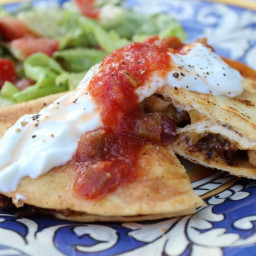Leftover Pork Quesadillas