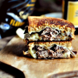 {Leftover} Pot Roast Grilled Cheese Sandwiches