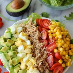 Leftover Pulled Pork Cobb Salad