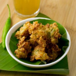 Leftover rice pakora