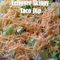 Leftover Skinny Taco Dip