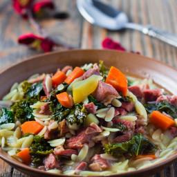 Leftover Turkey Orzo Soup Recipe