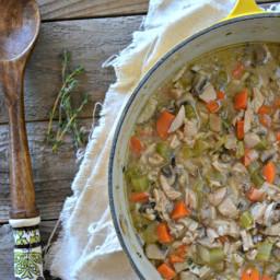 Leftover Turkey & Wild Rice Soup