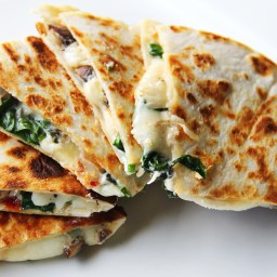 Leftover Steak and Spinach Quesadilla with Provolone