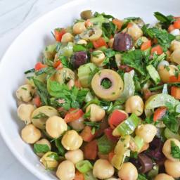 Lemon & Olive Chickpea Salad