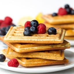 Lemon & Poppy Seed Waffles