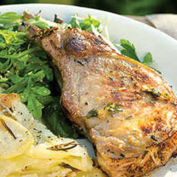 Lemon and Thyme Grilled Pork Chops