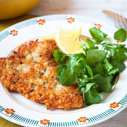 Lemon and thyme pork schnitzel