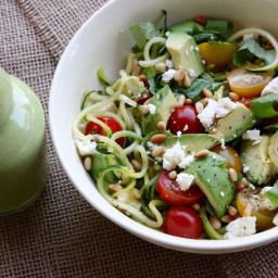 Lemon Basil Zoodle Salad