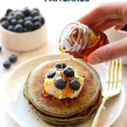 Lemon Blueberry Blender Pancakes