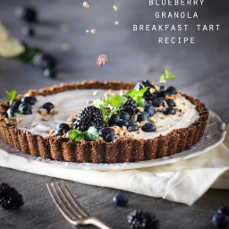 Lemon Blueberry Granola Breakfast Tart