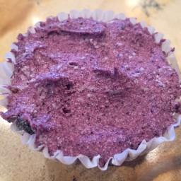 Lemon Blueberry Jam cheesecakes (sweetlyraw.com)