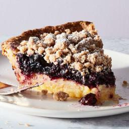 Lemon-Blueberry Streusel Pie