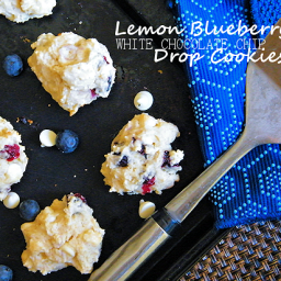 Lemon Blueberry White Chocolate Chip Drop Cookies