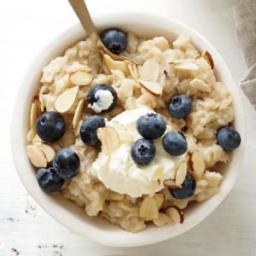 Lemon-Blueberry with Mascarpone Oatmeal