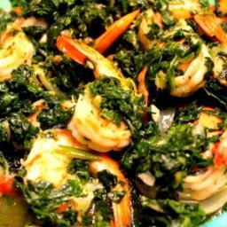 Lemon Caper Shrimp and Spinach