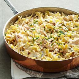 Lemon-Caper Tuna and Noodles with Alfredo