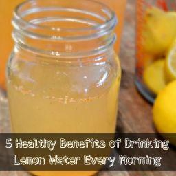 Lemon Cayenne Ginger Water