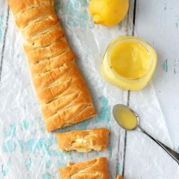 Lemon Cheesecake Crescent Braid