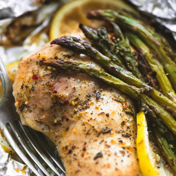 Lemon Chicken and Asparagus Foil Packs
