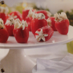 Lemon & Chive Goat Cheese-Stuffed Peppadews