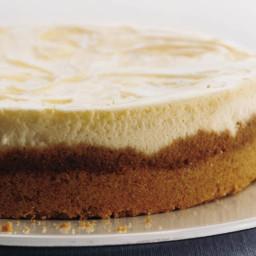 Lemon Curd Marbled Cheesecake