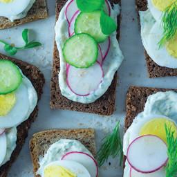 Lemon Dill  Veggie Toast