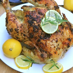 Lemon, Garlic and Rosemary Roasted Chicken