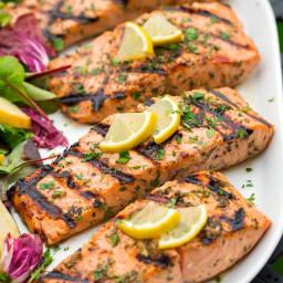 Lemon Garlic Herb Grilled Salmon