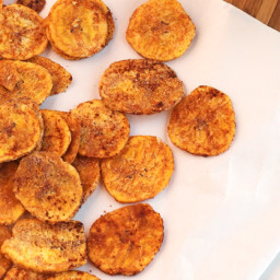 Lemon Garlic Plantain Chips