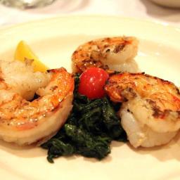 Lemon-ginger shrimp w/baby spinach