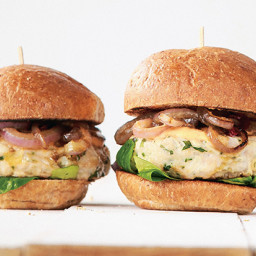 Lemon Herb Chicken Burgers with Thousand Island Dressing
