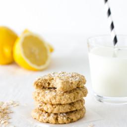 Lemon honey oatmeal cookies