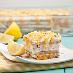 Lemon Icebox Cake (No Bake!)