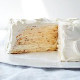 Lemon-Mascarpone Crepe Cake