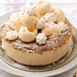 Lemon meringue ice-cream cake
