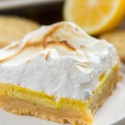 Lemon Meringue Pie Bars with Shortbread Crust