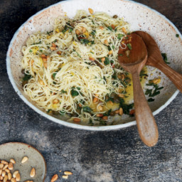 Lemon, Mint & Caper Pasta