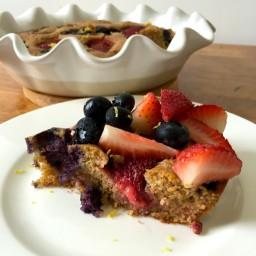 Lemon Olive Oil Berry Cake