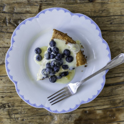 Lemon Olive Oil Cake with Lemon Crème Fraiche