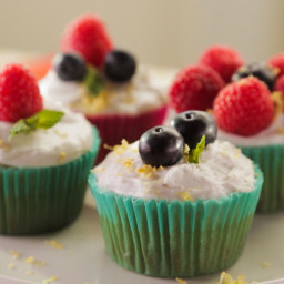 Lemon-Olive Oil Cupcakes with Coconut Whipped Cream