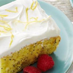 Lemon Poppy Seed Poke Cake