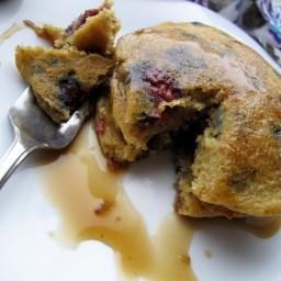 Lemon Raspberry Quinoa Pancakes (Vegan, Gluten-free, Sugar-free)